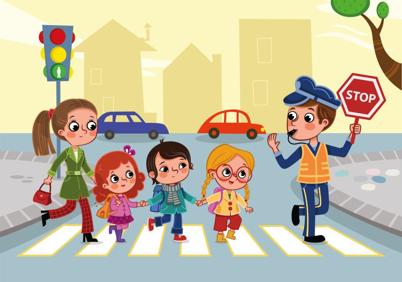 Картинки дети идут по пешеходному переходу