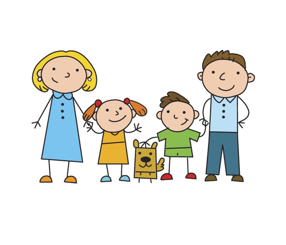 Открытки, семья картинка на прозрачном фоне