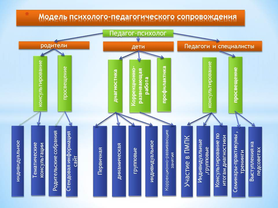 модель психолого педагогического сопровождения