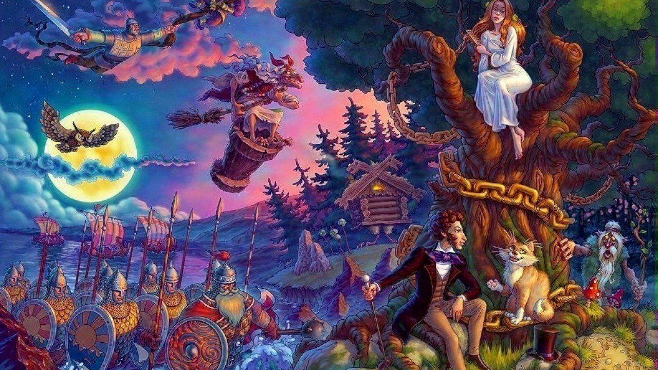Картинки со сказок а.с.пушкина