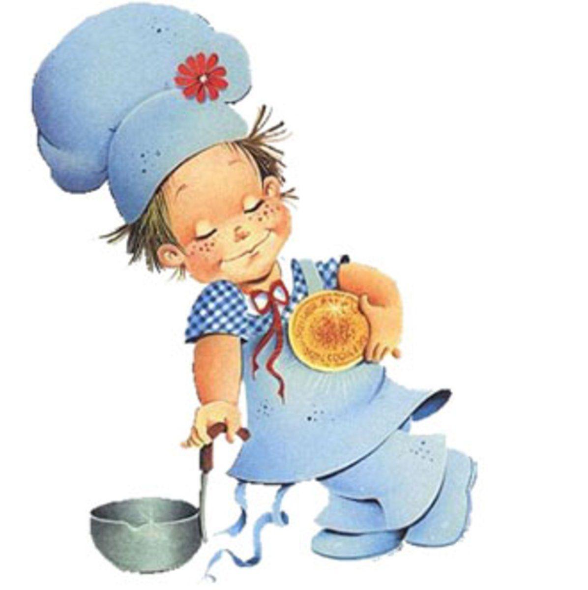 Картинки для детей поваренок с ложкой